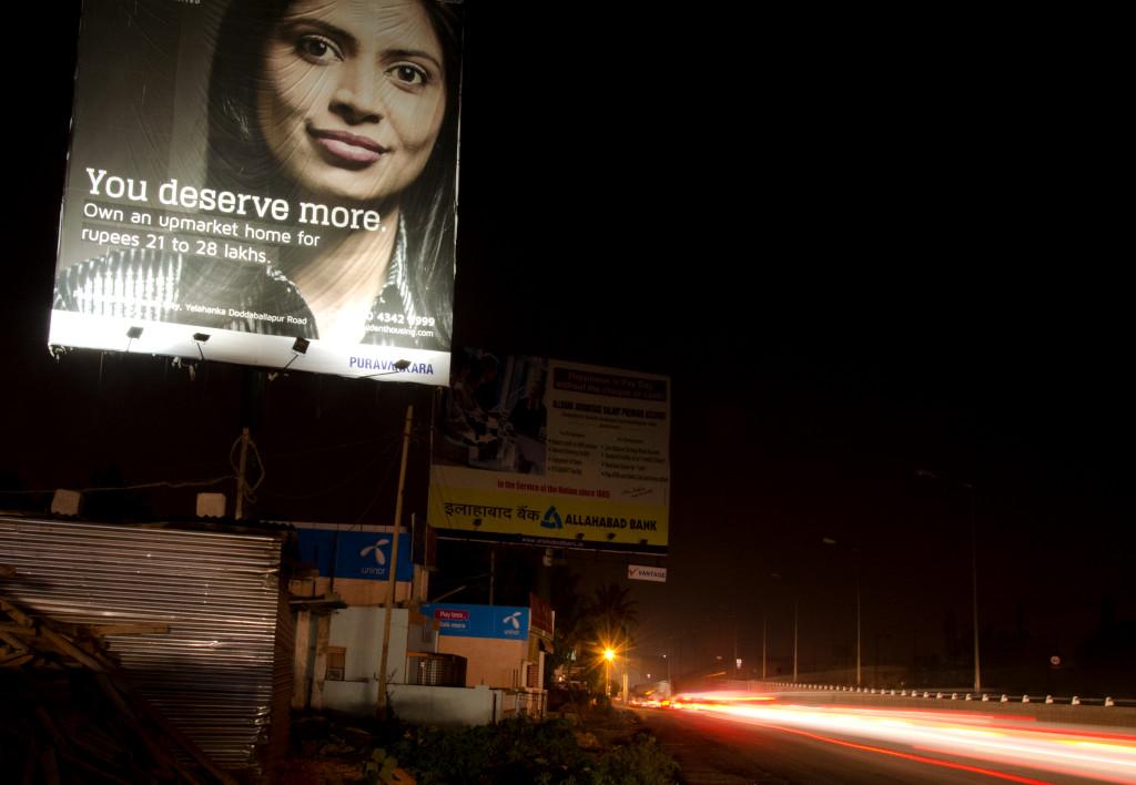 Pubblicità immobiliare, Bangalore, India.