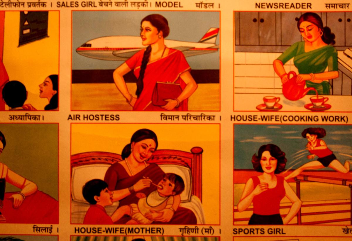 Occupazioni femminili, India, 2010.