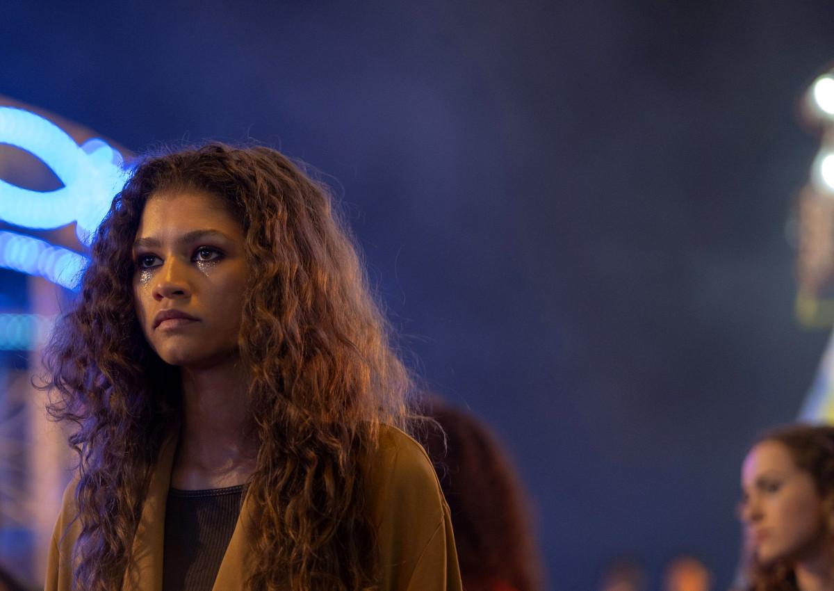 Zendaya, attrice protagonista della serie Euphoria, di HBO.