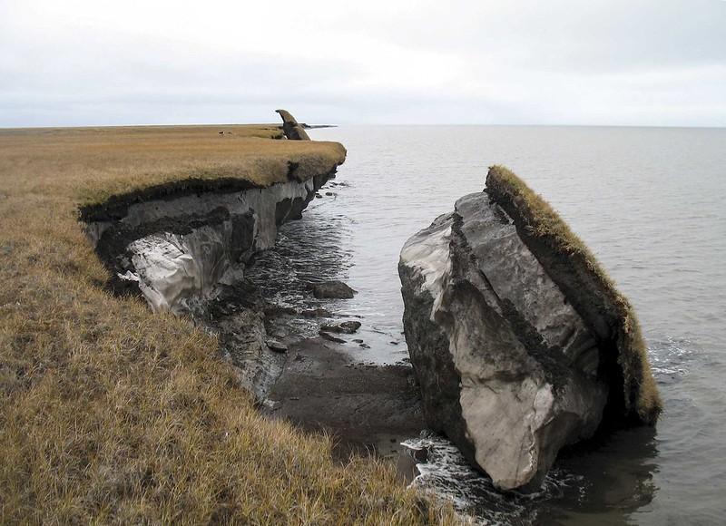 Effetti dei cambiamenti climatici sul permafrost artico, 2017.