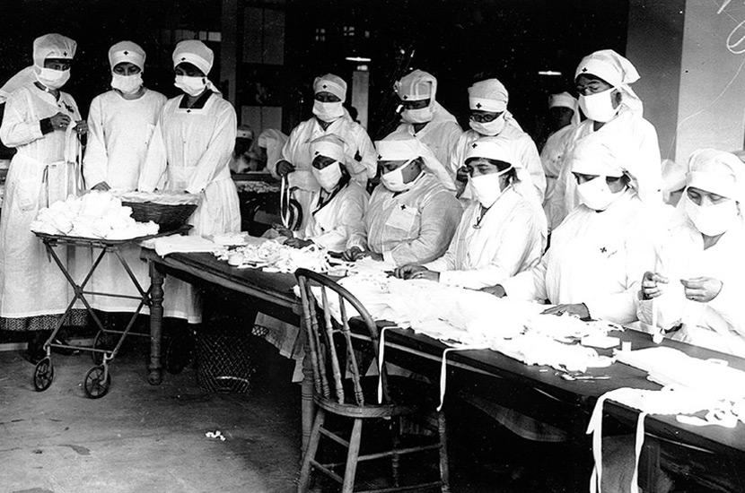 Volontari della Croce Rossa, Boston, 1918