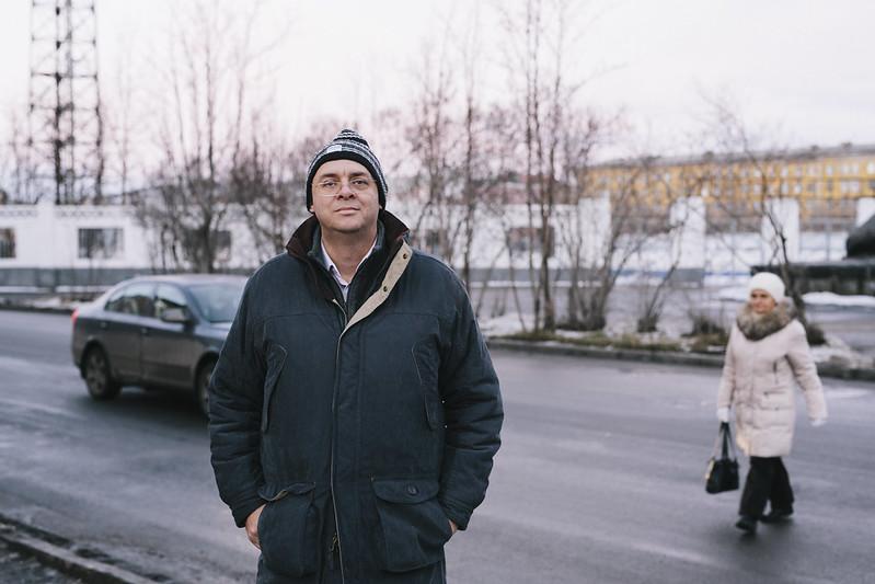 Graham Harman a Murmansk, Russia.