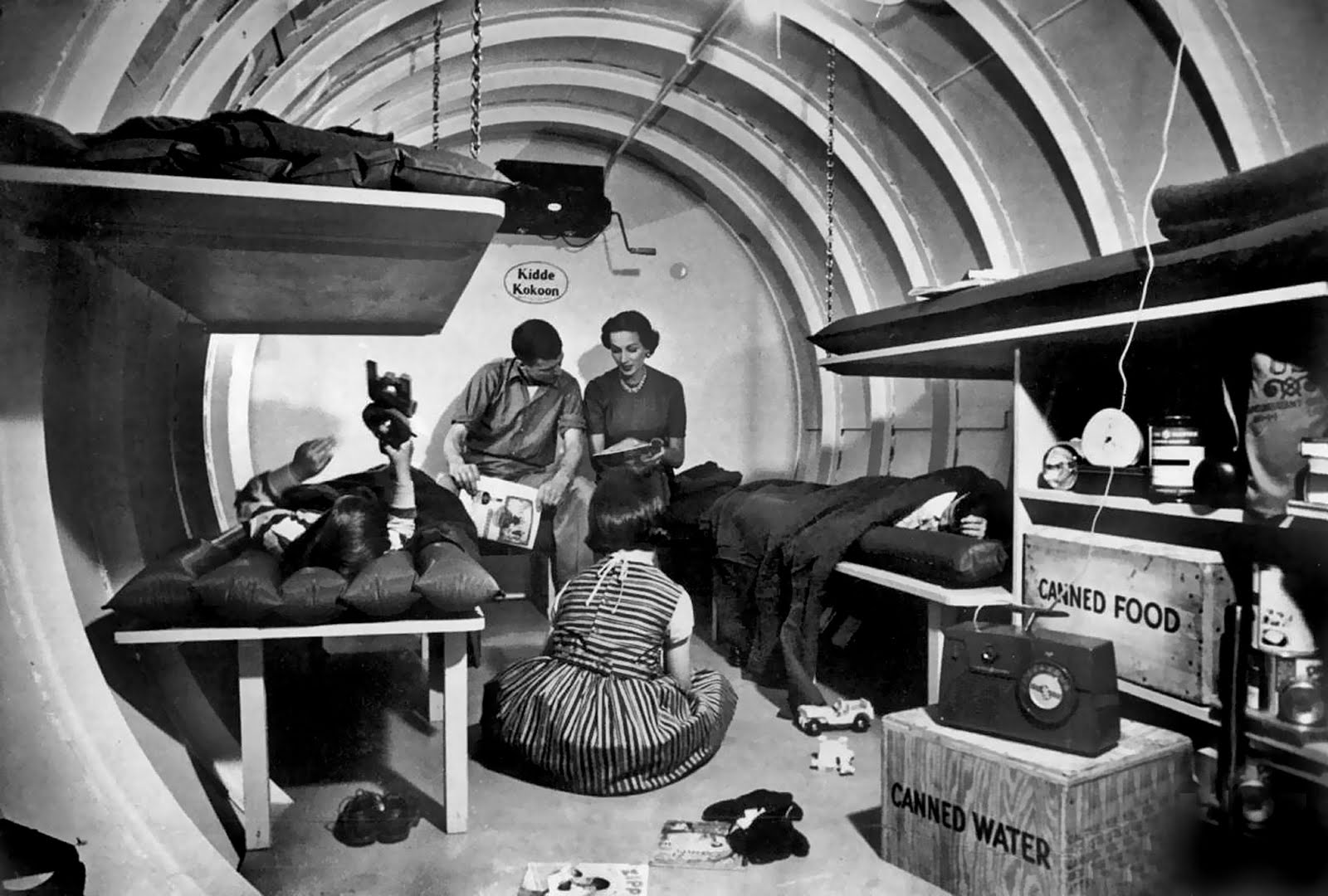 Uno shelter antiatomico americano degli anni '50