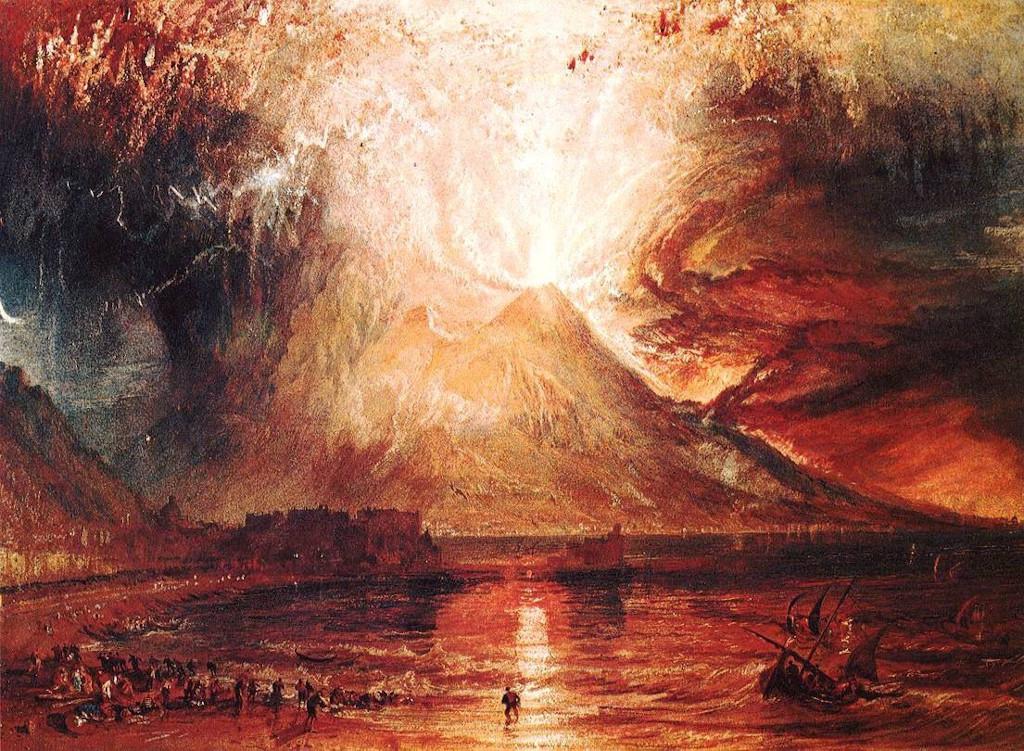William Turner, Eruzione del Vesuvio. 1817, Collezione arte britannica di Yale.